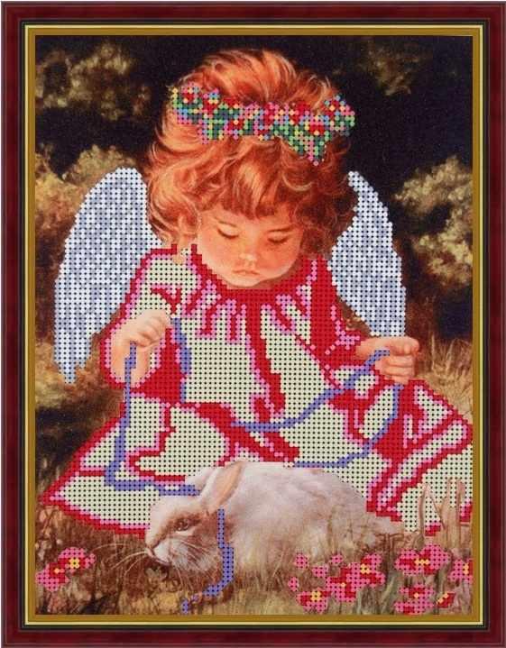 Б-4015 - Ангелок с кроликом - схема (Алёшкина любовь)