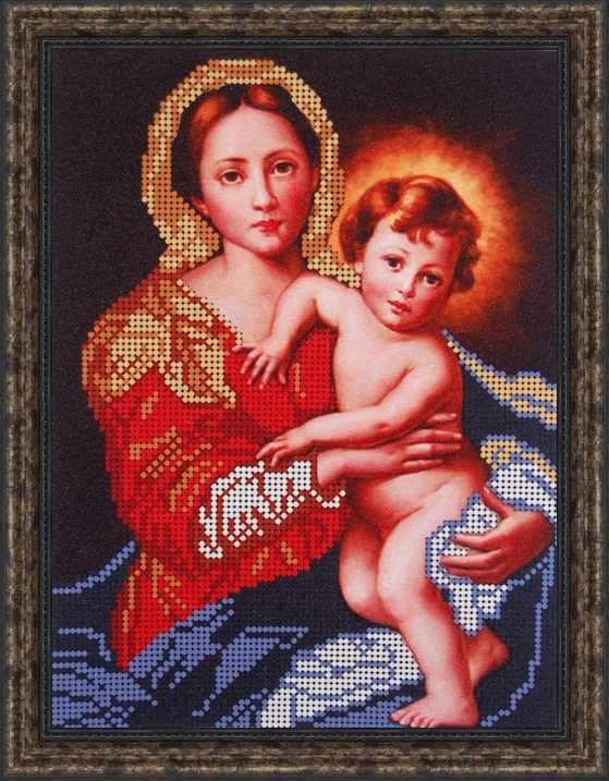 Б-4026 - Дева Мария держит Иисуса младенца - схема (Алёшкина любовь)
