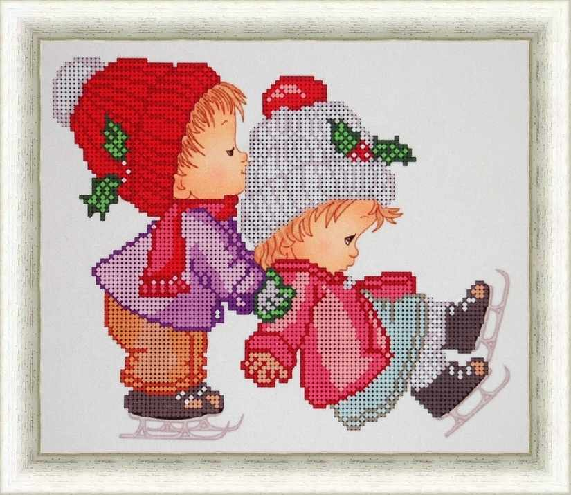 Б-4136 - Маленькие фигуристы - схема (Алёшкина любовь)