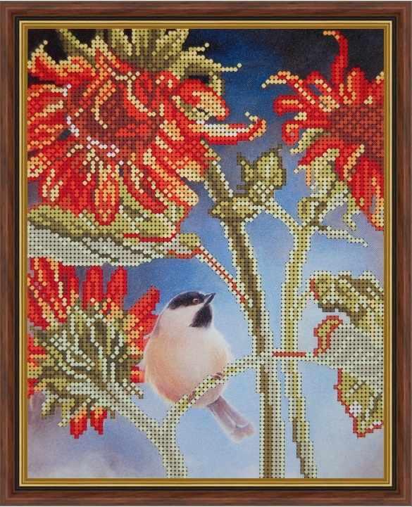 Б-4143 - Птичка на подсолнухе - схема (Алёшкина любовь)