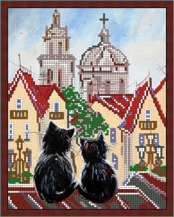 Б-4167 - Городские коты - схема (Алёшкина любовь)