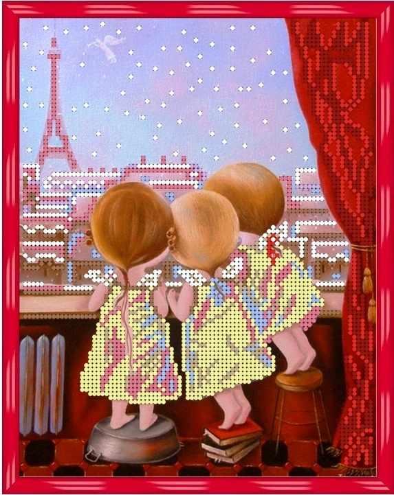 Б-4176 - Утро в Париже - схема (Алёшкина любовь)