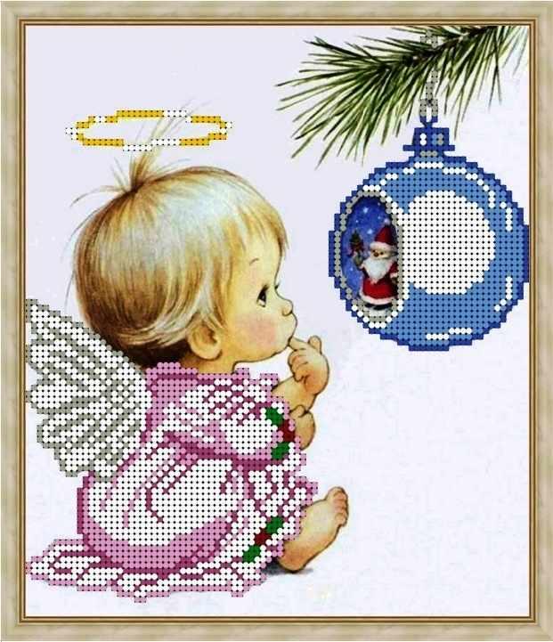 Б-4181 - Новогодний ангелок - схема (Алёшкина любовь)
