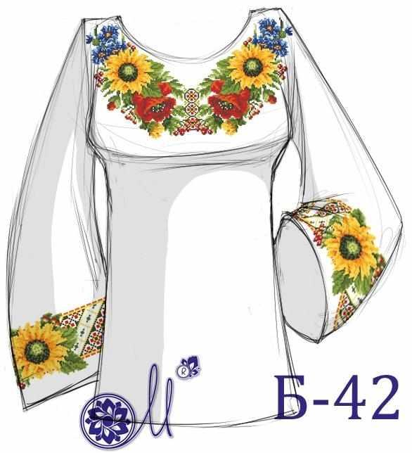Б-42 Заготовка рубашки (Мережка)