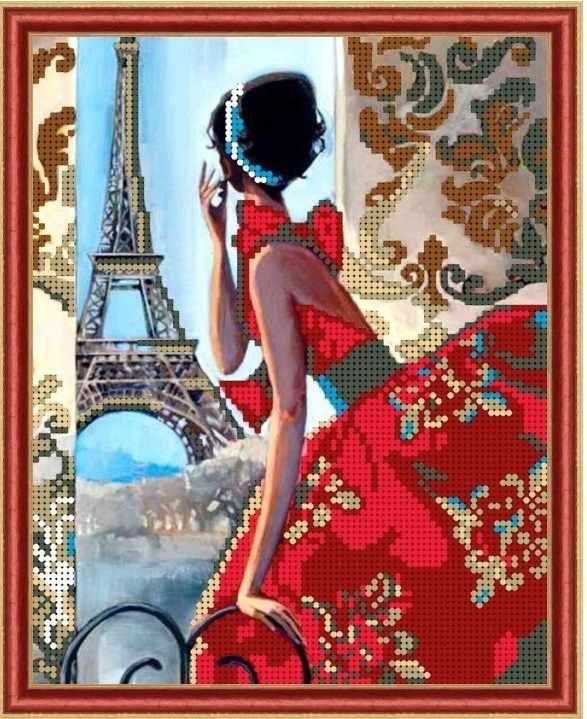 Б-4217 - Парижский гламур - схема (Алёшкина любовь)
