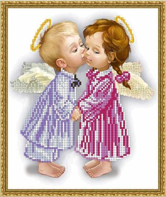 Б-4228 - Влюбленные ангелочки - схема (Алёшкина любовь)