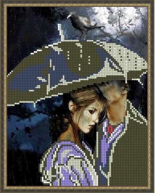 Б-4254 - Черный ворон - схема (Алёшкина любовь)
