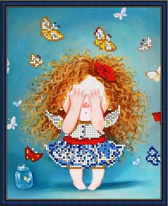 Б-4266 - Непослушные бабочки - схема (Алёшкина любовь)