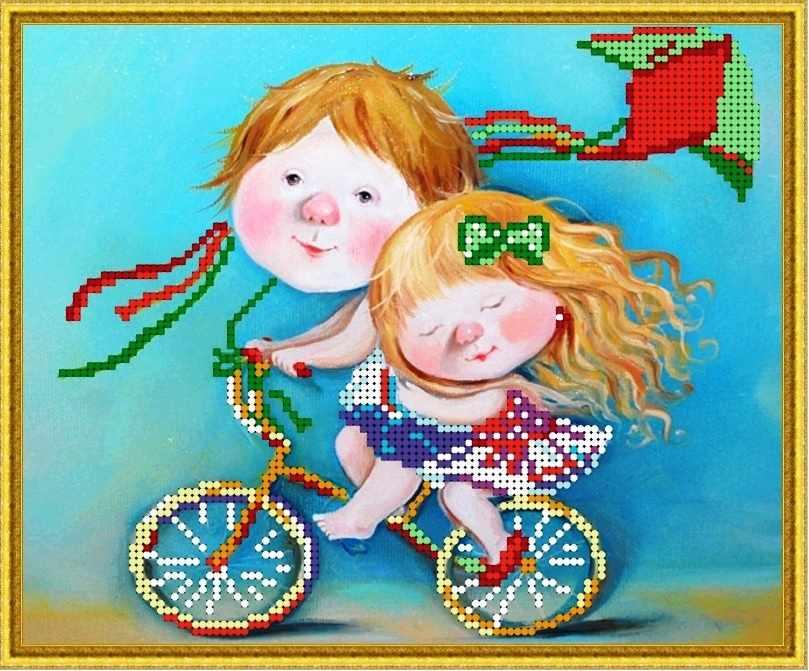 Б-4267 - Прогулка на велосипеде - схема (Алешкина любовь)