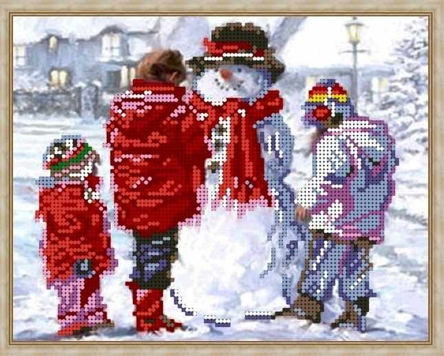 Б-4275 - Снеговичок - схема (Алёшкина любовь)