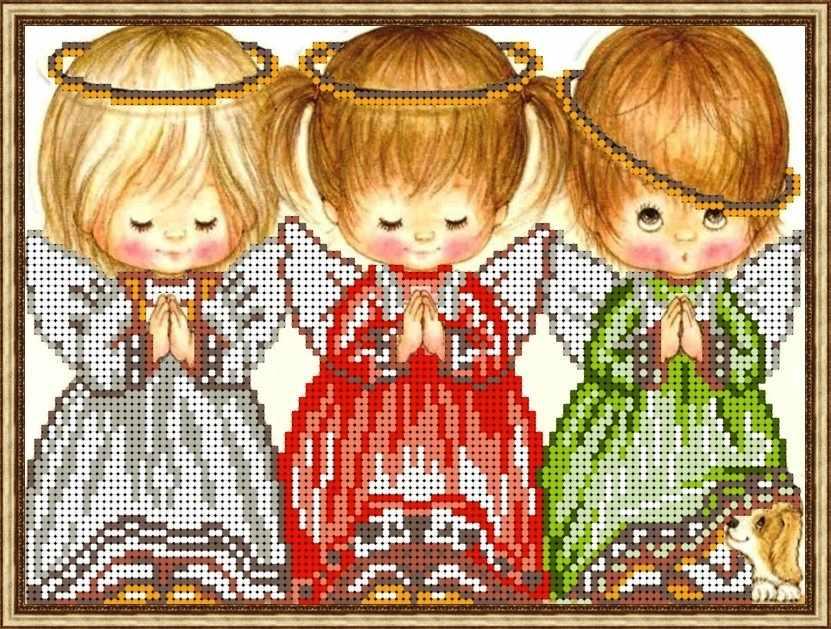 Б-4283 - Три ангелочка - схема (Алёшкина любовь)