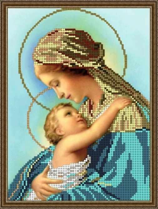 Б-4288 - Богородица Дева Мария с Иисусом - схема (Алёшкина любовь)