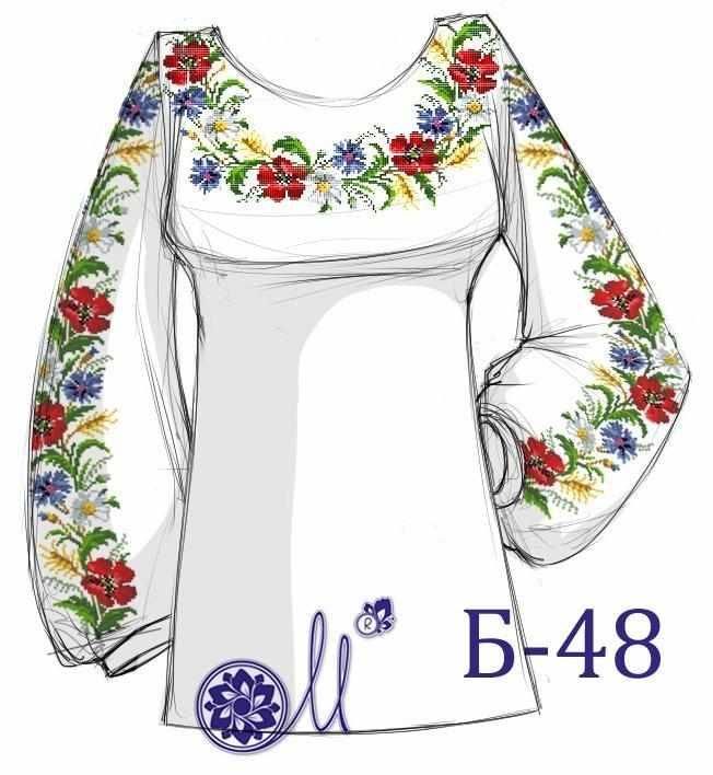 Б-48 Заготовка рубашки лён (Мережка)