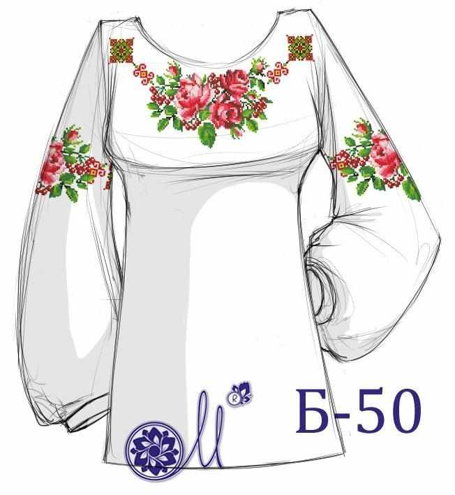 Б-50 Заготовка рубашки домотканая (Мережка)