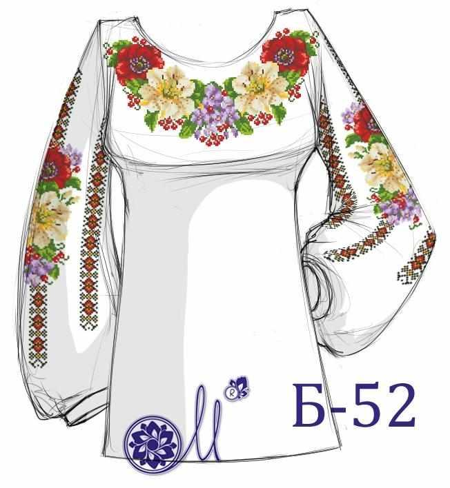 Б-52 Заготовка рубашки (Мережка)