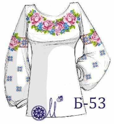 Б-53 Заготовка рубашки (Мережка)