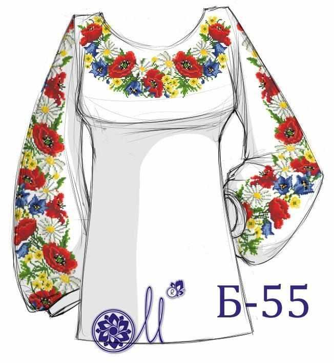 Б-55 Заготовка рубашки домотканая (Мережка)
