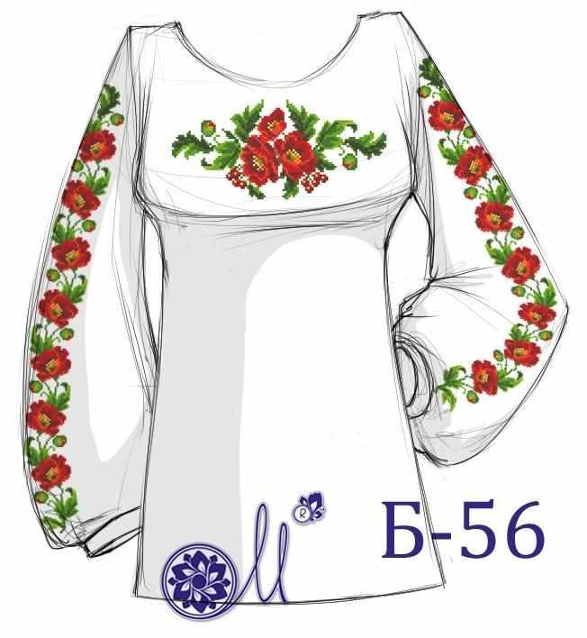 Б-56 Заготовка рубашки (Мережка)