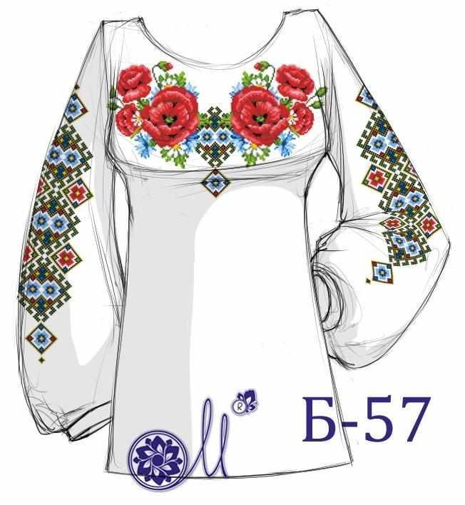 Б-57 Заготовка рубашки (Мережка)