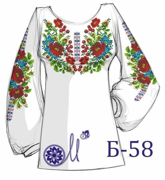 Б-58 Заготовка рубашки лён (Мережка)