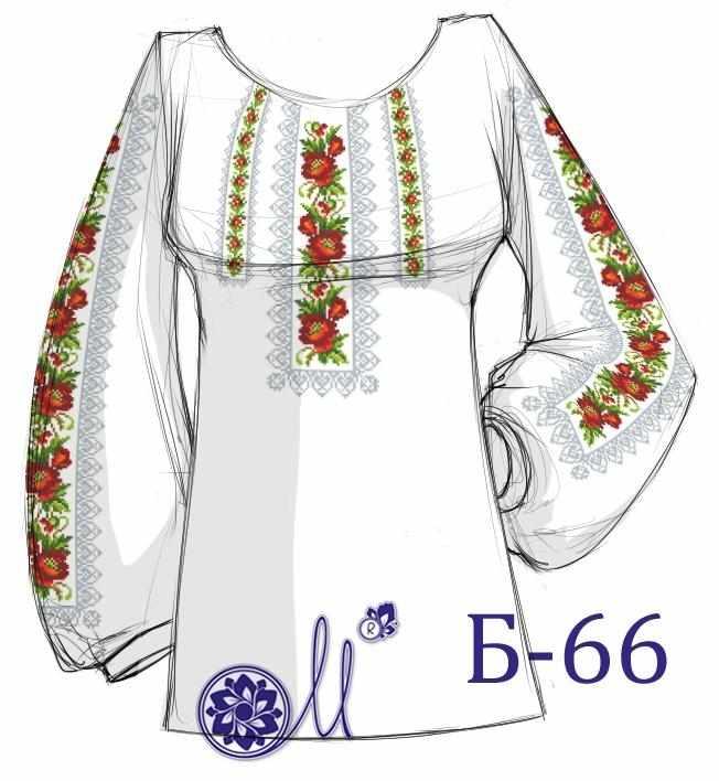 Б-66 Заготовка рубашки (Мережка)