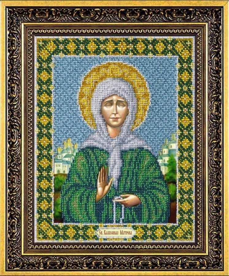 Б1011 Св.Бл.Матрона Московская (Паутинка)