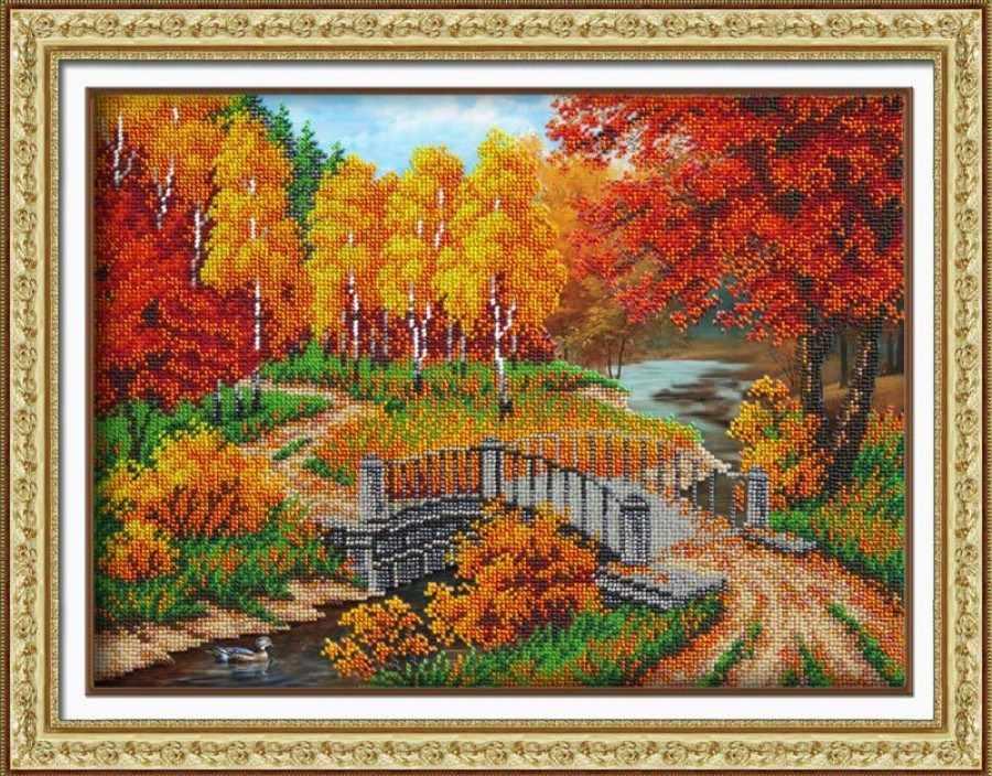 Б1436 Осенняя пора (Паутинка)
