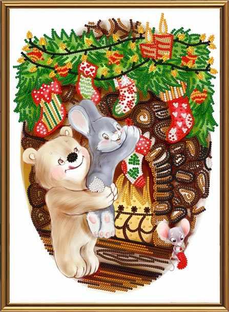 БИС 4303 Ждем подарки (рисунок на ткани)