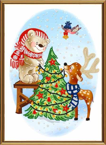 БИС 4304 Праздничные хлопоты (рисунок на ткани)