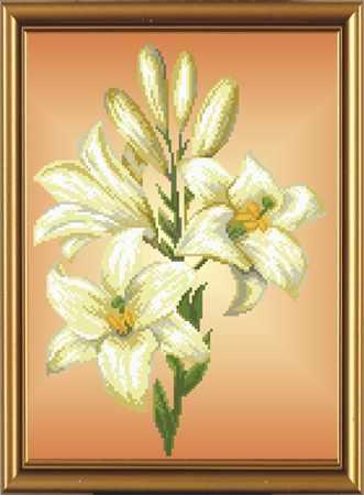 Бис 3032 Тигровая лилия (рисунок на ткани)