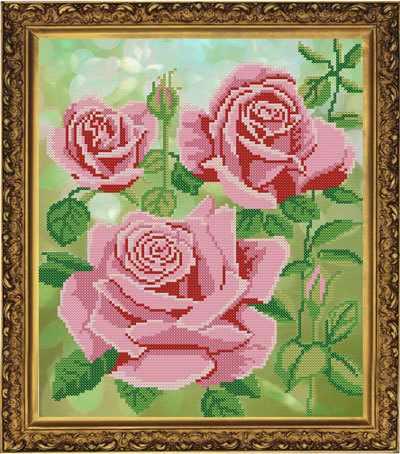 Бис 3140 Царица цветов (рисунок на ткани)
