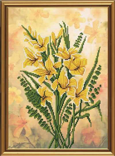 Бис 3209 Дикий гладиолус (рисунок на ткани)