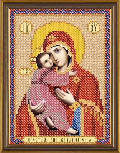 Бис 5008 Богородица Владимирская (рисунок на ткани)