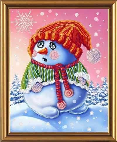 Бис 5251 Снеговичок (рисунок на ткани)