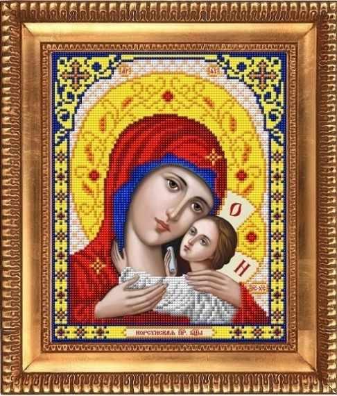 """И-4022 """"Богородица Корсунская"""" - рисунок на ткани"""