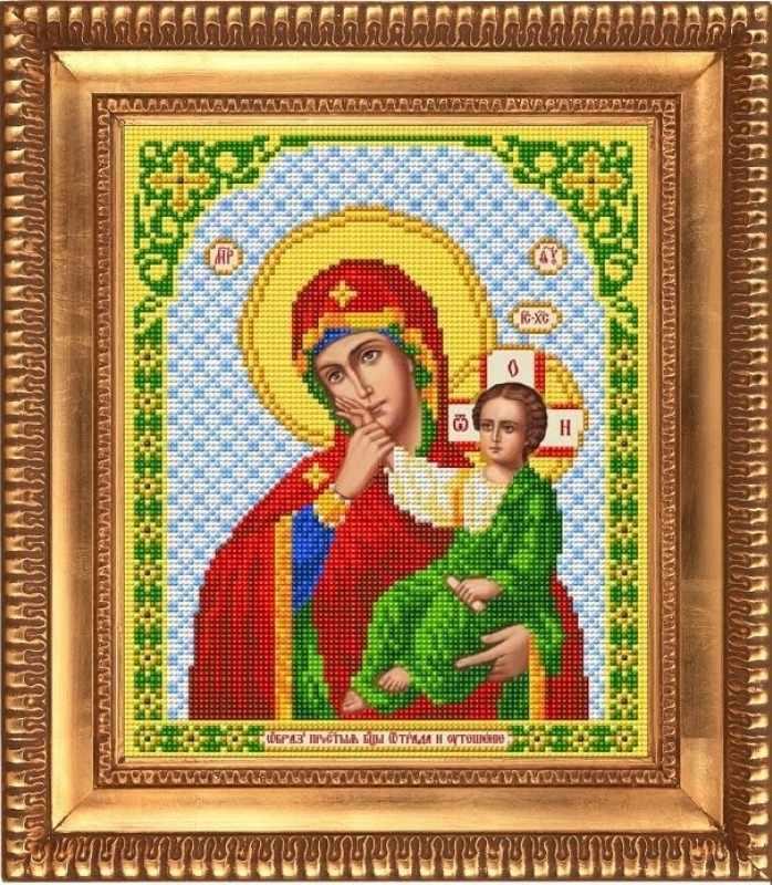 """И-4040  """"Пресвятая Богородица Отрада и Утешение"""" - рисунок на ткани"""