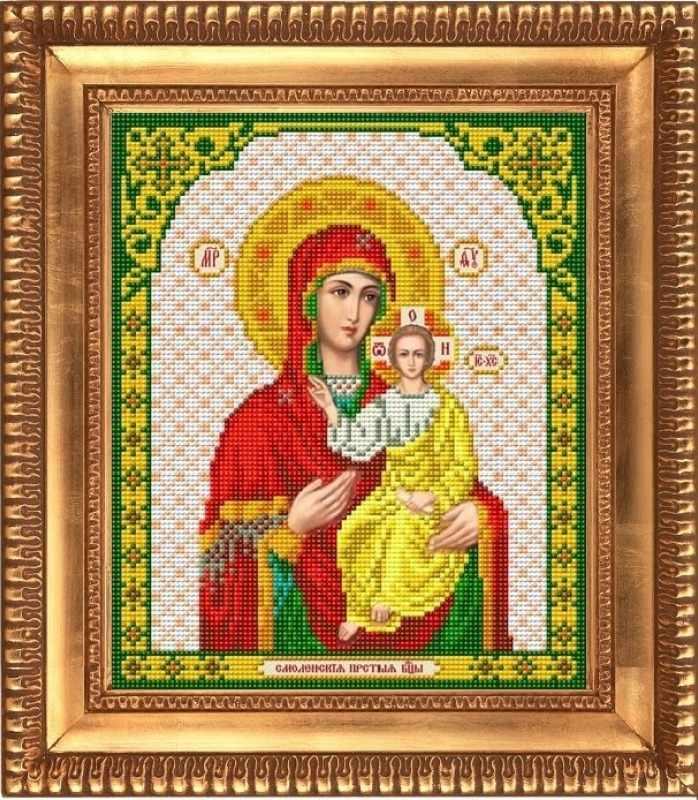 """И-4049  """"Пресвятая Богородица Смоленская"""" - рисунок на ткани"""