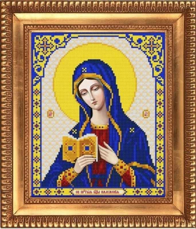 """И-4062  """"Пресвятая Богородица Калужская"""" - рисунок на ткани"""