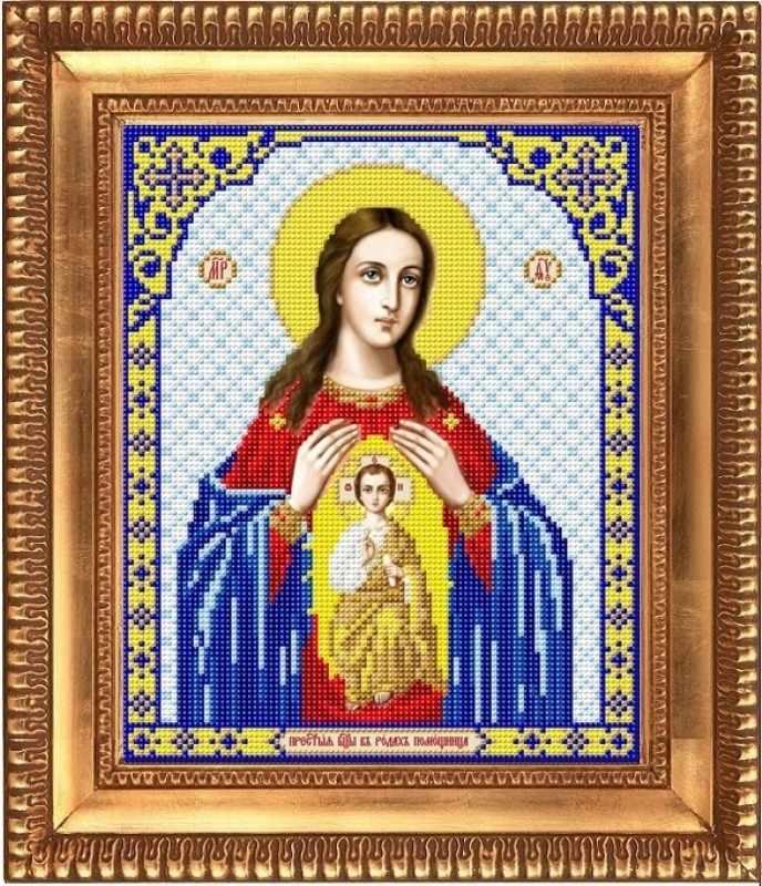 """И-4064  """"Пресвятая Богородица Помощница в родах"""" - рисунок на ткани"""