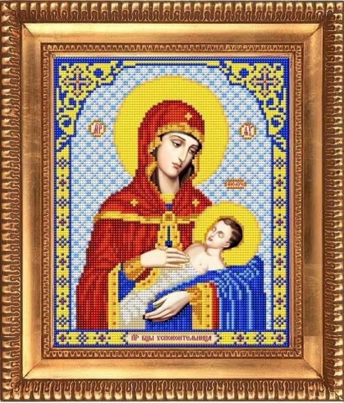 """И-4067 """"Пресвятая Богородица Успокоительница"""" - рисунок на ткани"""