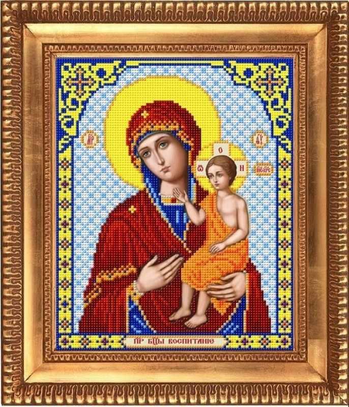 """И-4071 """"Пресвятая Богородица Воспитание"""" - рисунок на ткани"""