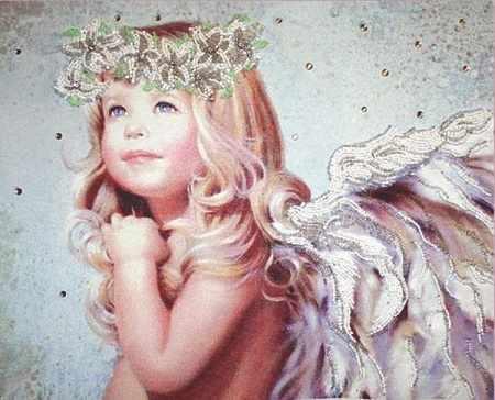 БП103 Ангел с лилиями (Из. Рук.)