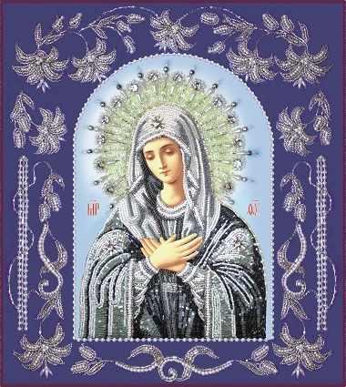 БП115 Богородица Умиление в рамке (Из. Рук.)