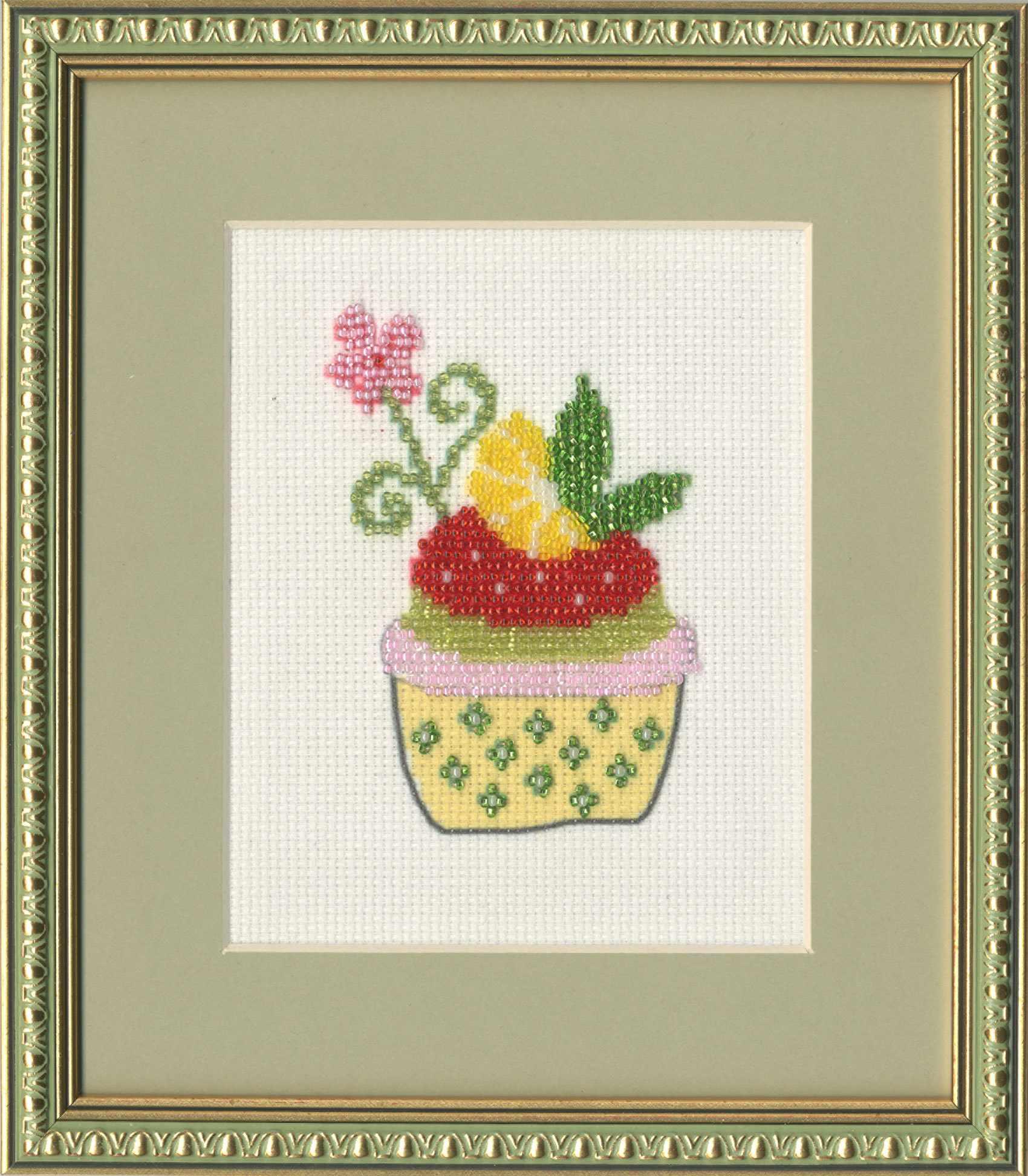 БС-010 Лимонный десерт. Бисерная россыпь.