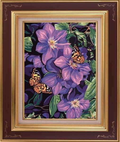 CKC129 Бабочки в лиловом