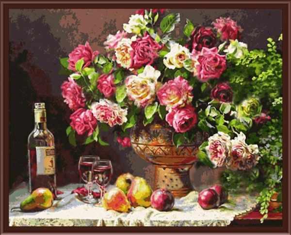 CKC278 Натюрморт с розами