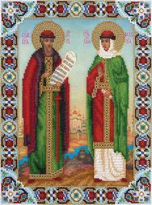 """ЦМ-1558 """"Икона Святых Петра и Февронии"""""""