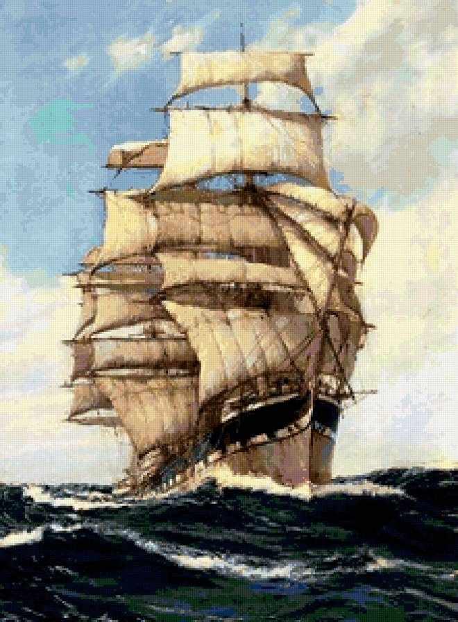 Фрегат (АЖ-1104) - картина стразами