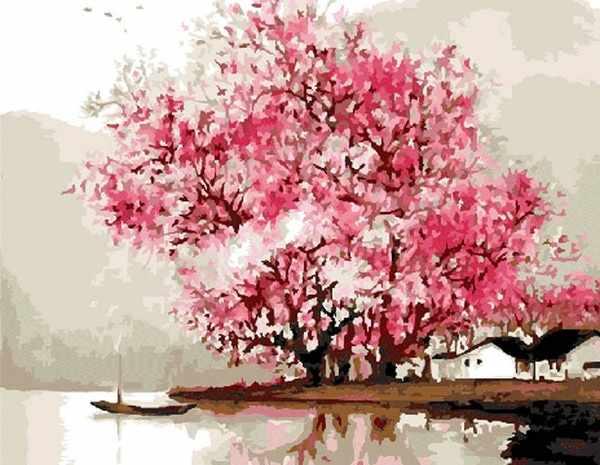 """G427 """"Розовые деревья на брегу"""""""