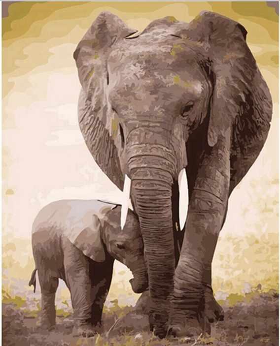 GХ6971 Слониха и слоненок